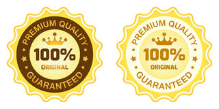 100 Premium Quality Label. Isolated on white background Stock Image