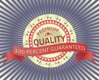 Premium Quality Label with origami Royalty Free Stock Image