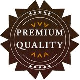 Premium quality label. Premium quality badge on a white background with stars Stock Photography
