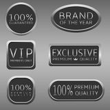 Premium quality label. Promotion label set Advertising icons Marketing badge Brand of the year Exclusive VIP Premium quality Royalty Free Stock Image