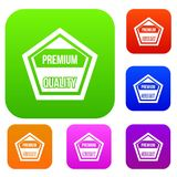 Premium quality label set collection Royalty Free Stock Photo