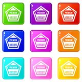 Premium quality label set 9 Royalty Free Stock Photography