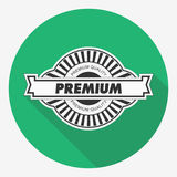 Premium quality label. Vector illustration. Flat design. Royalty Free Stock Photography
