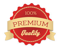 Premium quality label in vintage style. Vector illustration, for graphic and web design Stock Photography