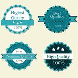 Premium Quality Labels. Vintage design Royalty Free Stock Images