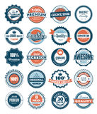 Premium Quality labels. Collection of Premium and High Quality labels Stock Photography