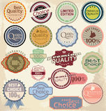 Premium quality labels Stock Photography
