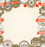 Premium quality labels. Shopping Premium quality labels frame Royalty Free Stock Images