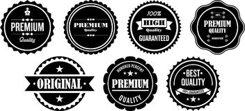 Premium quality labels Stock Images