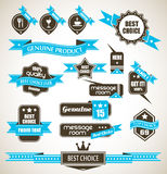 Premium Quality Labels Collection. Premium Quality Labels - Collection of retro bi-colours vintage labels with several slogans: Best Choice, Premium Quality, Top Stock Photography