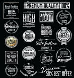 Premium quality labels collection Royalty Free Stock Photo