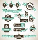 Premium Quality Labels - Collection of retro Stock Image