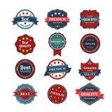 Premium Quality Labels. Design elements with retro vintage desig Stock Photos