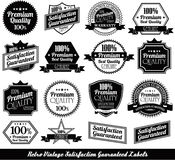 Premium quality Labels with retro design Royalty Free Stock Photos