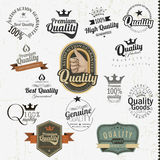 Premium Quality Labels in retro design Royalty Free Stock Images