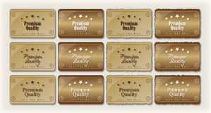 Premium Quality Labels Retro S. Set of Retro styled  labels. Ideal to edit and perfect for websites, v-cards and presentations Stock Photography