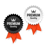 Premium quality labels. Set of premium quality labels Royalty Free Stock Images