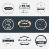 Premium quality labels set. Brands design elements Stock Images