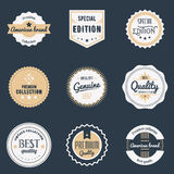 Premium quality labels set. Brands design elements, emblems, logo, badges and stickers.  vector illustration Stock Photos