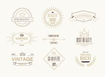 Premium quality labels set Royalty Free Stock Image