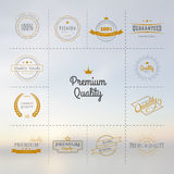 Premium quality labels set Stock Photography