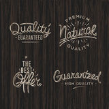 Premium quality labels Royalty Free Stock Image