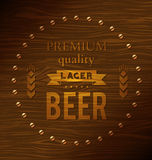 Premium quality lager beer Stock Photos