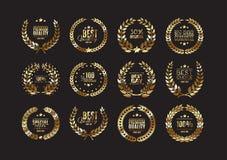 Premium quality laurel wreath collection Stock Photography