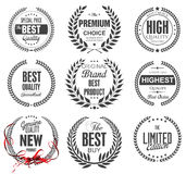 Premium quality laurel wreath collection Stock Photos