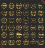Premium quality laurel wreath collection Stock Images