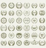 Premium quality laurel wreath collection Royalty Free Stock Image