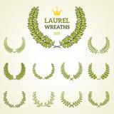 Premium quality laurel wreath collection Stock Image