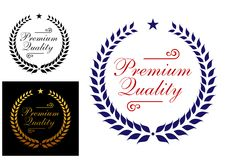 Premium quality laurel wreath logo or emblem Stock Photography