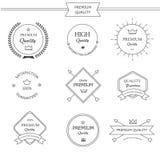 Premium quality line labels set Stock Images