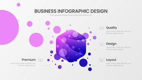4 option hexahedron analytics vector illustration template. Business data visualization design layout. Statistics infographic. Premium quality 4 option royalty free illustration