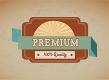 Premium quality. Over vintage background  illustration Stock Image