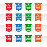 Premium quality paper tag labels Royalty Free Stock Photography