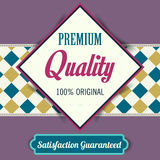 Premium Quality poster, retro vintage design Royalty Free Stock Image