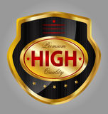 Premium quality product label Stock Images