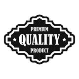 Premium quality product label icon, simple style. Premium quality product label icon. Simple illustration of premium quality product label vector icon for web Royalty Free Stock Photos