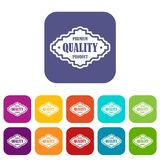 Premium quality product label icons set Stock Photos