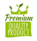 Premium quality product sticker. Vector illustration for graphic and web design Stock Photo