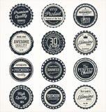 Premium quality retro badge collection Royalty Free Stock Image