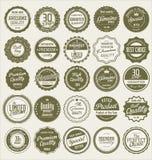 Premium quality retro badge collection Stock Images