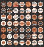 Premium Quality retro badges collection. Premium Quality retro vintage badges collection Royalty Free Stock Photo