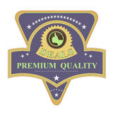 Premium quality retro label. Premium quality label designed in nice retro style Royalty Free Stock Photos
