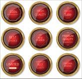 Premium quality retro Label. Illustration Stock Image