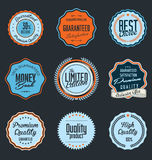Premium Quality retro Label. Illustration Stock Photo