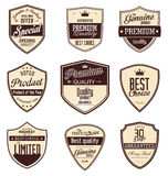 Premium quality retro vintage badges Stock Images