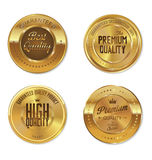 Premium, quality retro vintage golden labels collection Royalty Free Stock Photography
